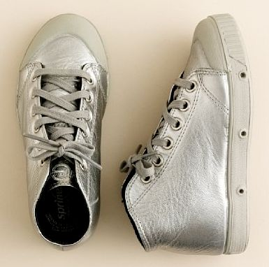 silver sneakers for boys