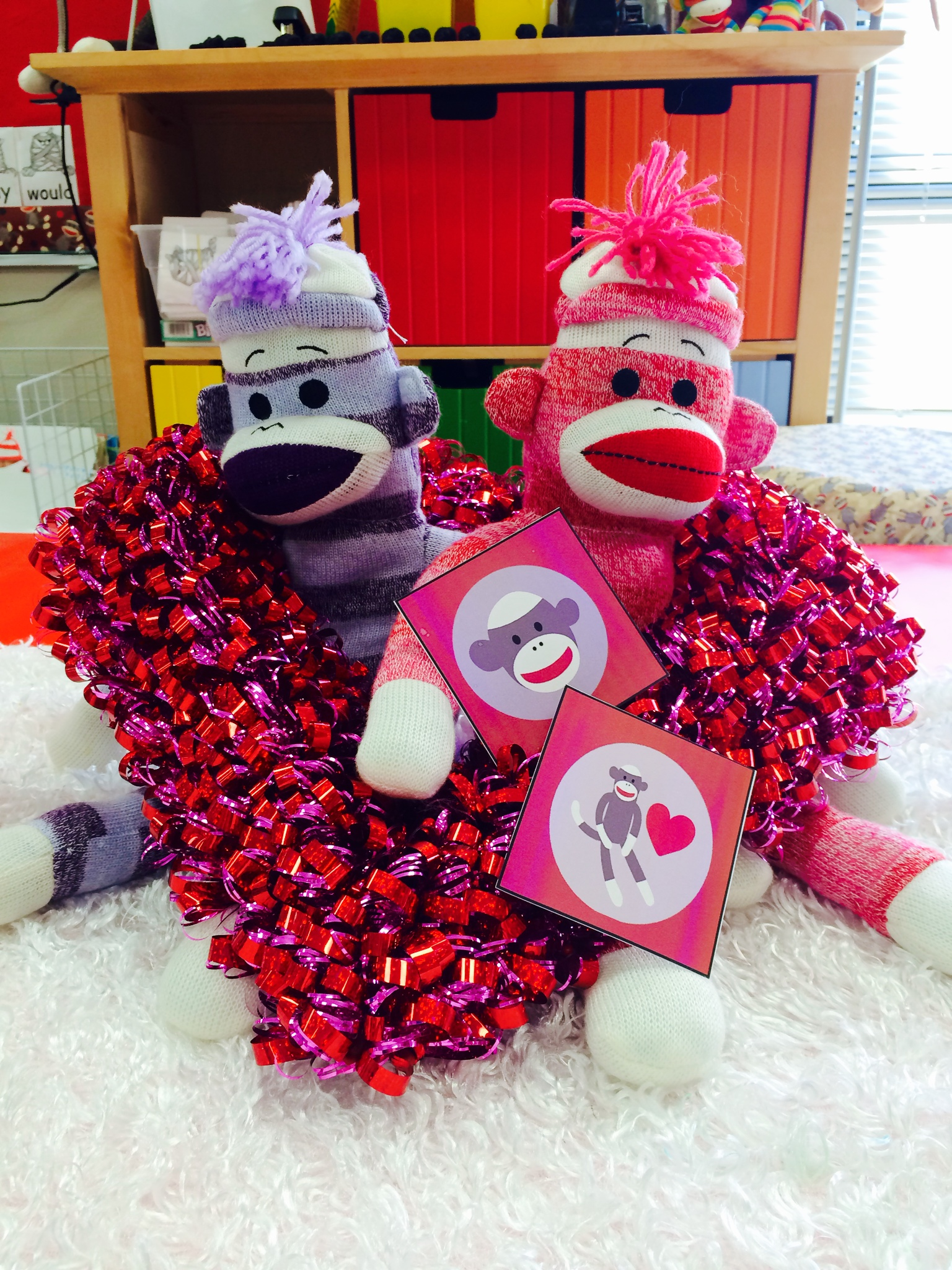 Sock Monkey Centerpiece