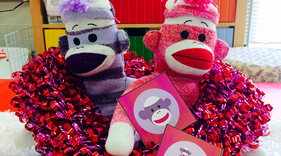 Sock Monkey Love: Crafty Centerpiece for Valentine's Day