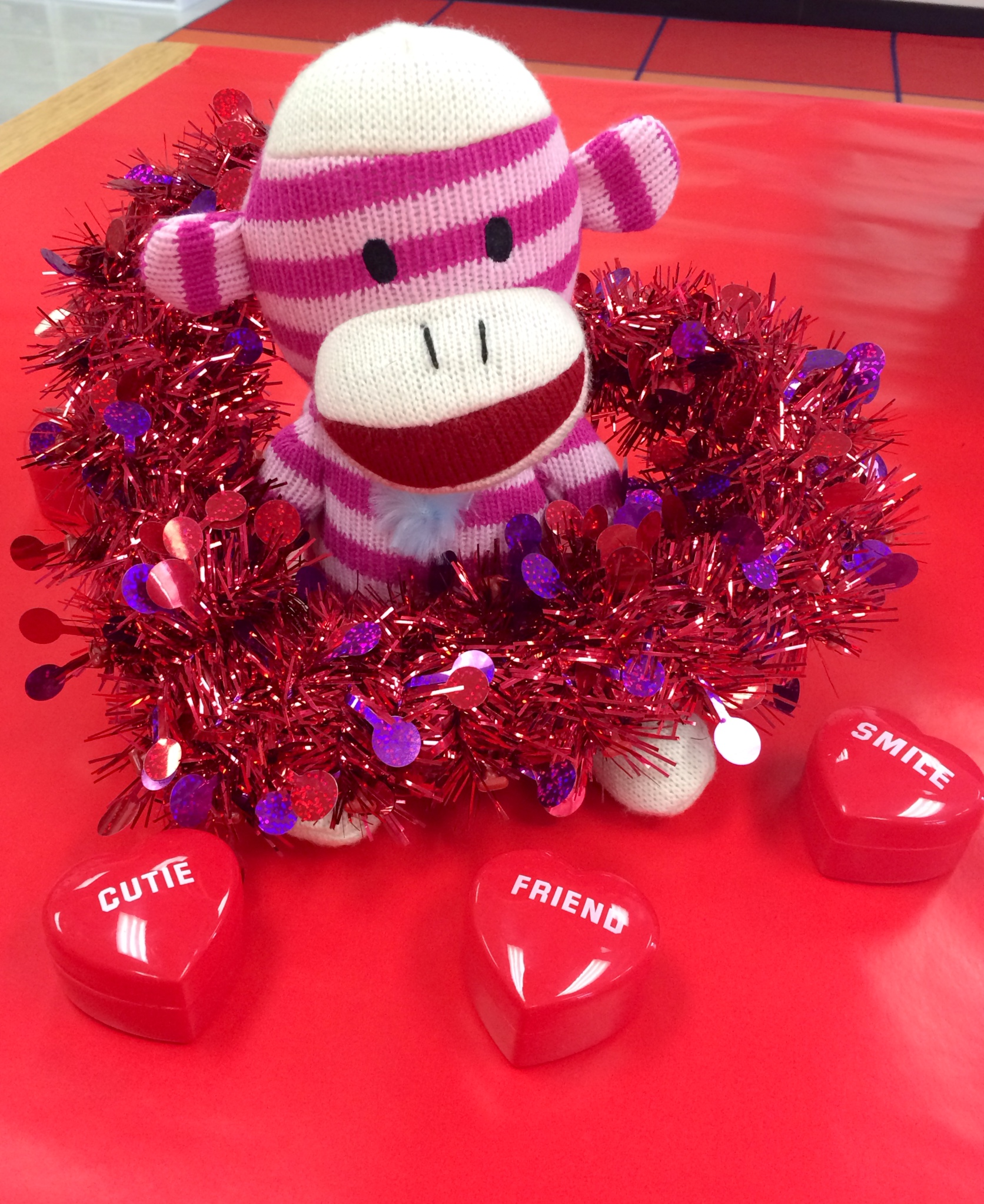 Sock Monkey Valentine's Day Decor