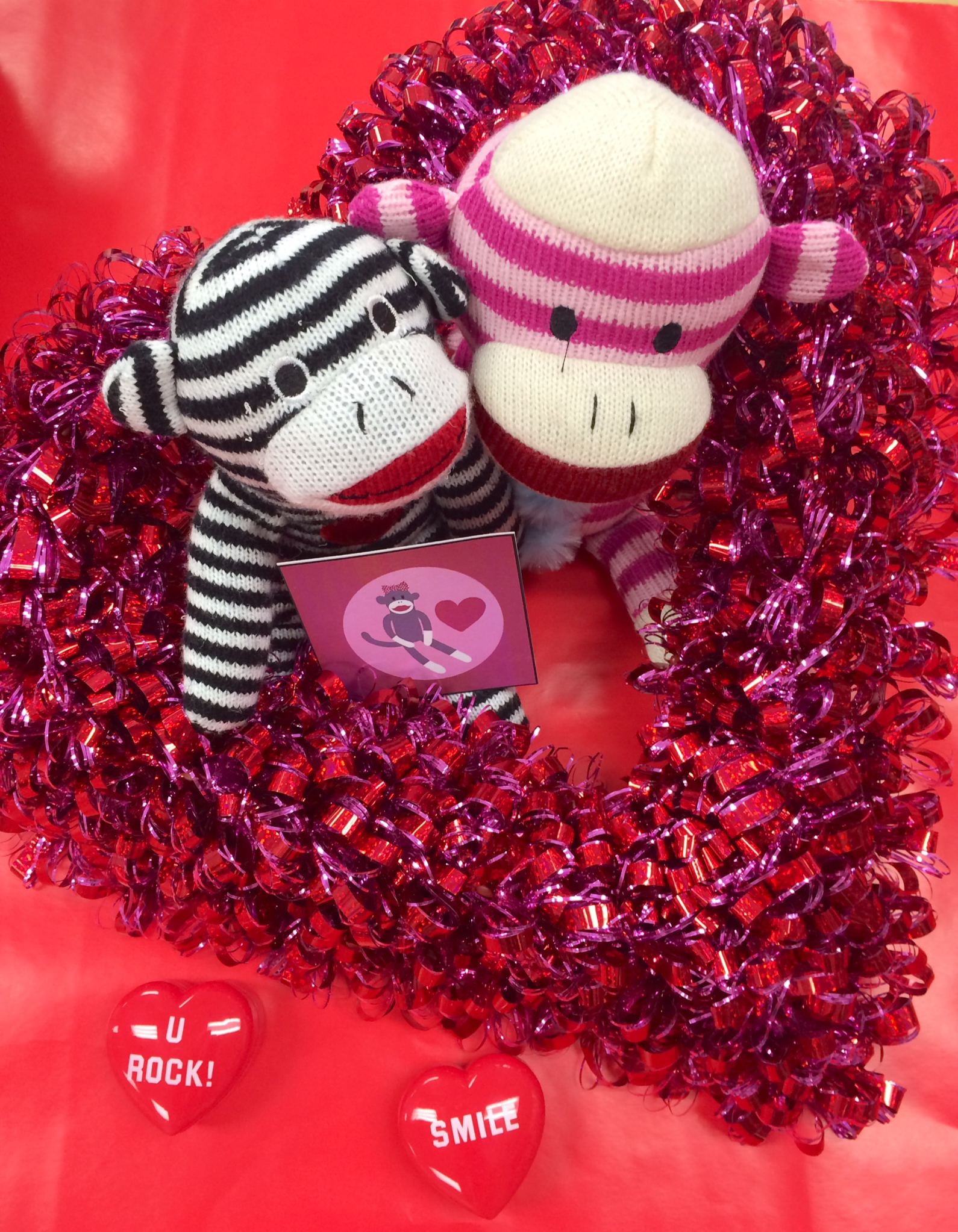 Sock Monkey Love Centerpiece