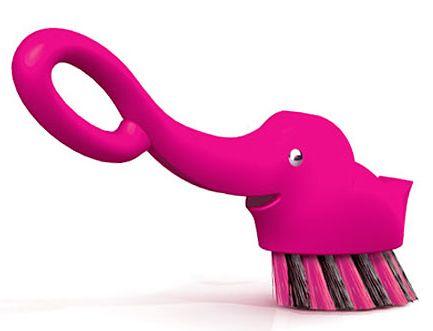 Pink Elephant Dish Scrubber