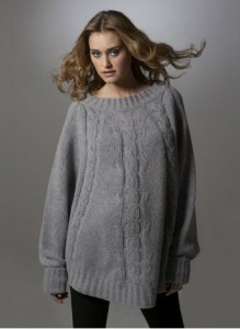 Cable Batwing Maternity Sweater
